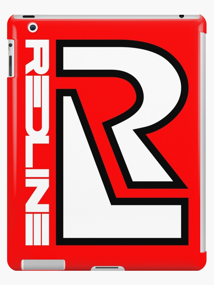 80 S Redline R Design Ipad Case Skin By Frazza001 Redbubble