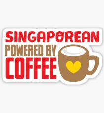 Singaporean powered by coffee Sticker