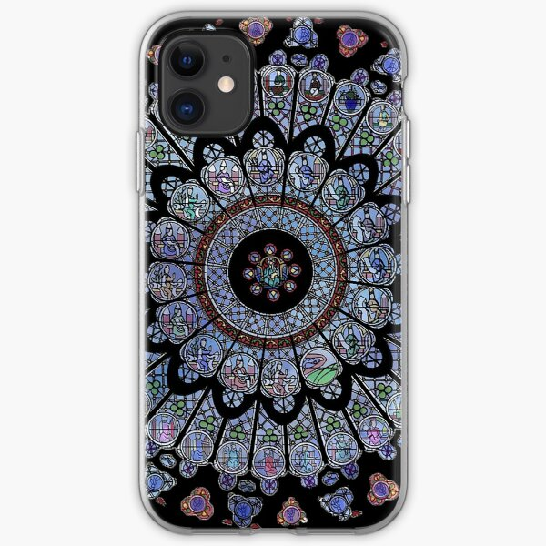 Rose Window Notre Dame  iPhone Soft Case