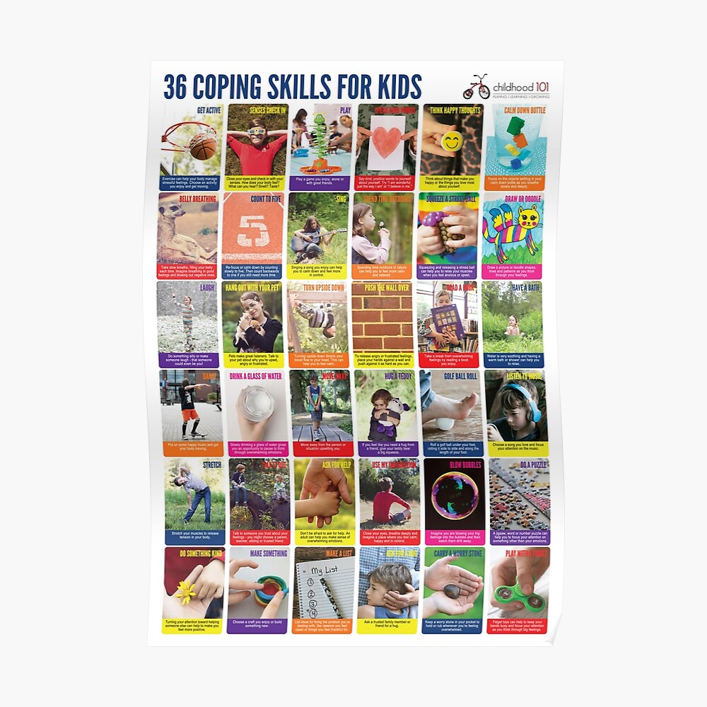 Coping Skills for Kids Poster