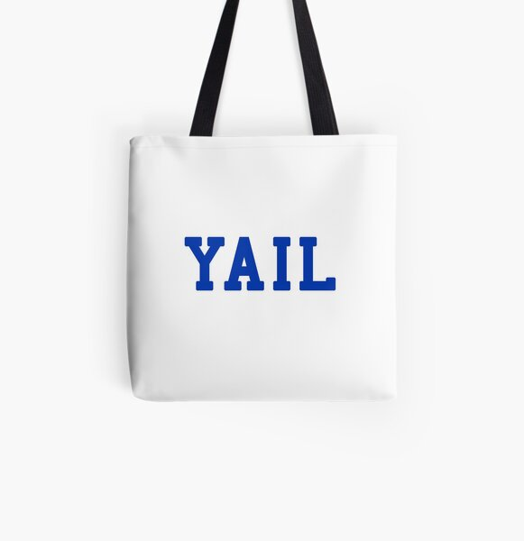 YAIL (blue letters) All Over Print Tote Bag