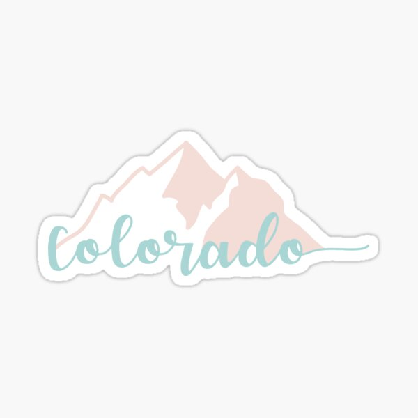 Colorado Mountains Sticker