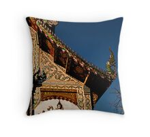 Northern Temple Throw Pillow