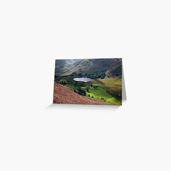 Blea Tarn From Lingmoor Fell Greeting Card