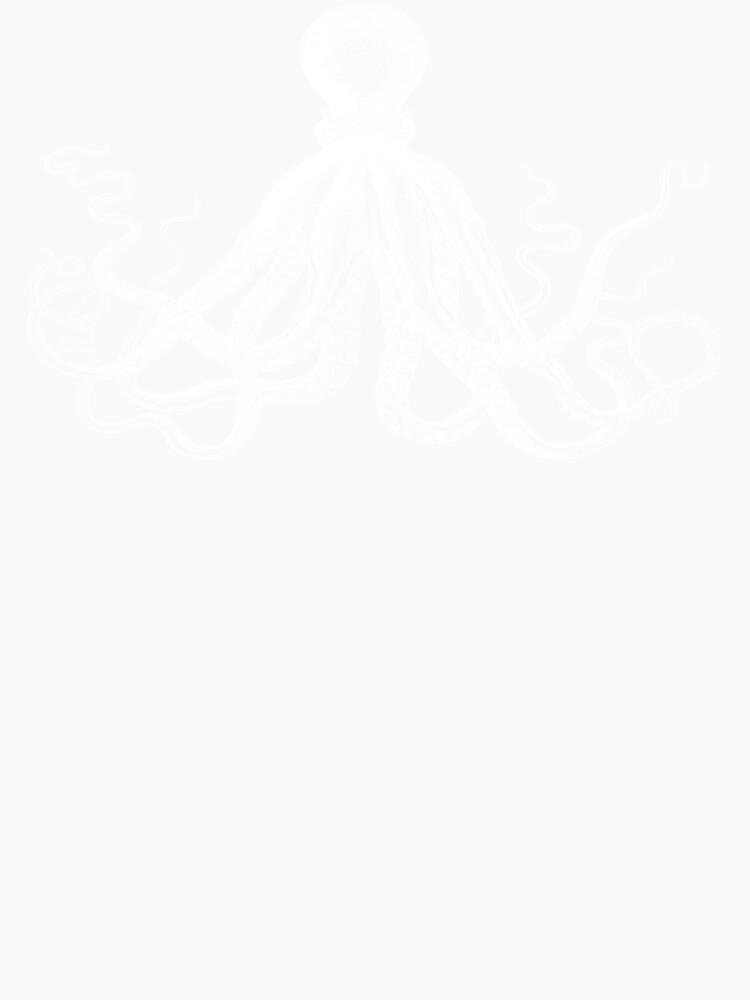 Krake   Weinlese-Krake   Tentakeln   Meeresbewohner   Nautik   Ozean   Meer   Strand   Schwarz und weiß   von EclecticAtHeART