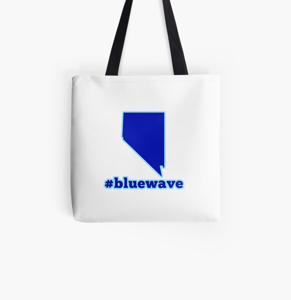 Blue Wave (Nevada) All Over Print Tote Bag