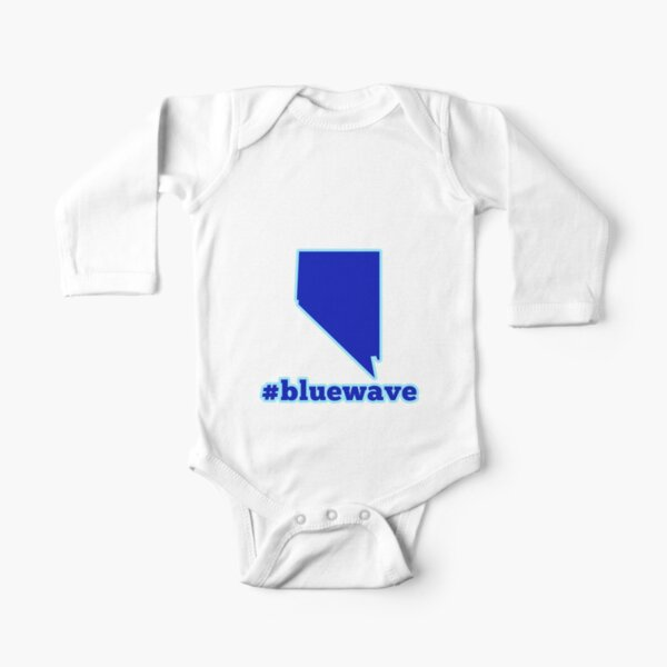 Blue Wave (Nevada) Long Sleeve Baby One-Piece