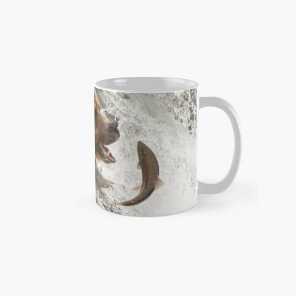 Brown bear about to catch a salmon Classic Mug