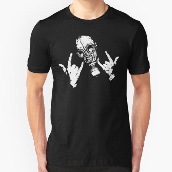 Devil Horns (White Version) Slim Fit T-Shirt