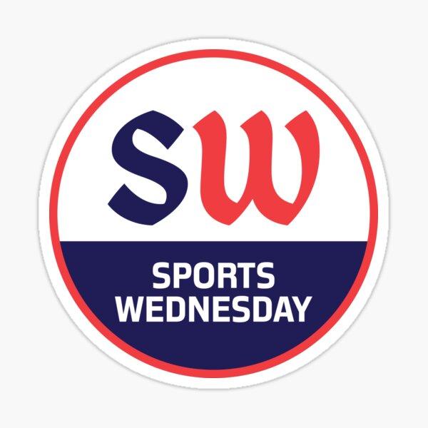 Sports Wednesday Official Blood n' Blue Logo Sticker
