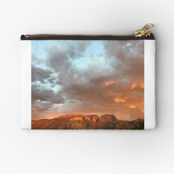 Poetic retreats sky mountains collage write Zipper Pouch