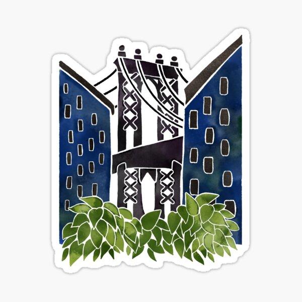 DUMBO Brooklyn Watercolor Blue Palette Sticker