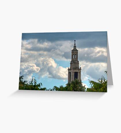 St Luke's Church Spire. Greeting Card