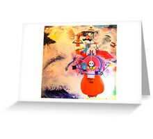 Balance with construct Greeting Card