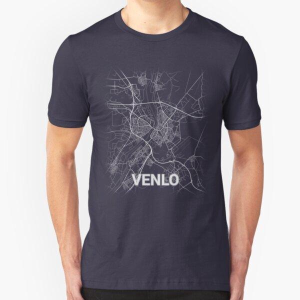 Venlo (Nederland, Netherlands, Limburg) City Map & Streets Slim Fit T-Shirt