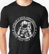 Apollo 11 50th Anniversary Moon Landing 1969 2019 Astronaut Slim Fit T-Shirt