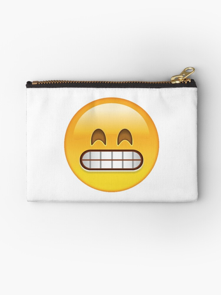 'grin emoji ' Zipper Pouch by Rain R