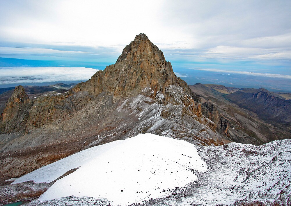 Mount Kenya - Looking North-West towards Nelion by David Clarke