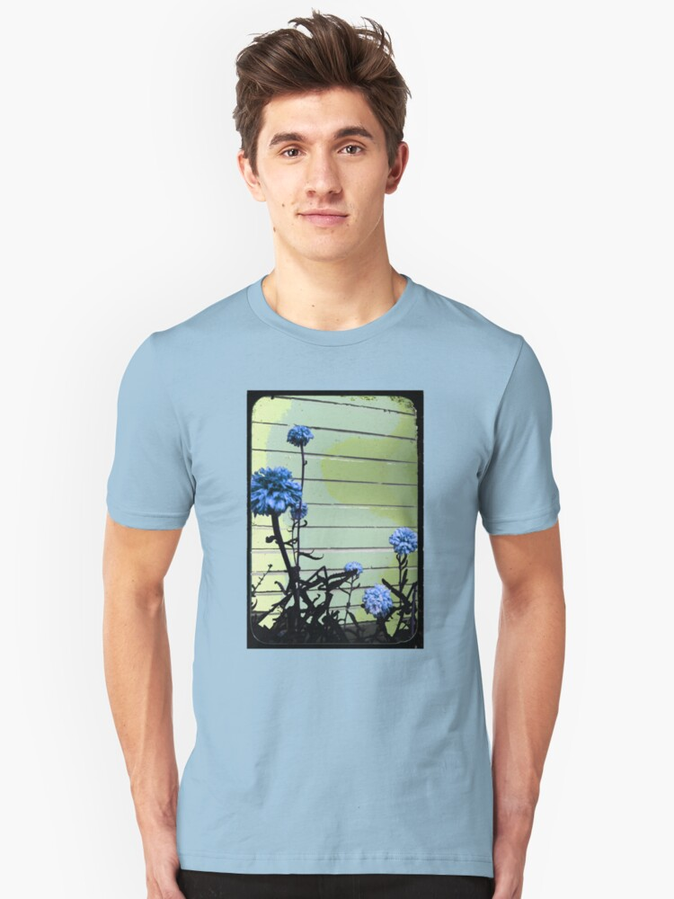blue carnations Unisex T-Shirt Front