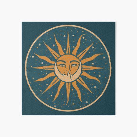 Sun and Moon | Vintage Art Board Print