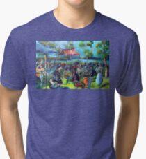 NO 2 Artmix Tin Can Bay Qld Tri-blend T-Shirt