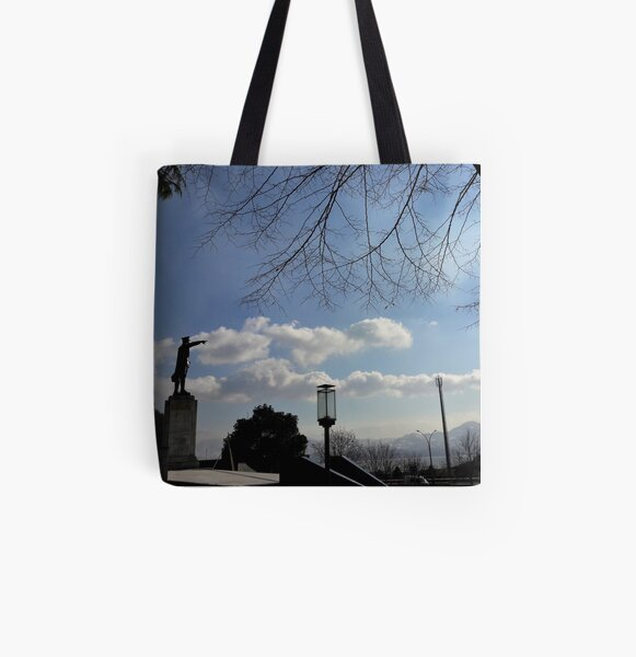 Ataturk Pointing to the Gulf of Izmit All Over Print Tote Bag