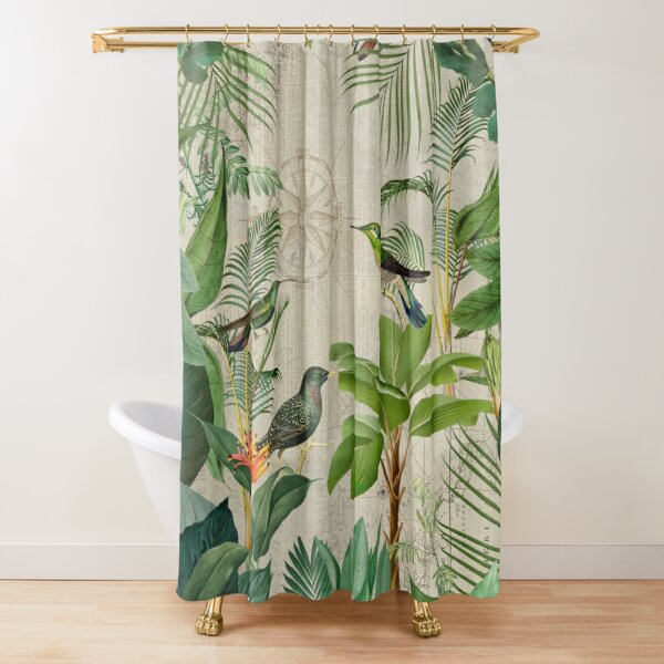 Journey  To The Paradise Of Birds Shower Curtain