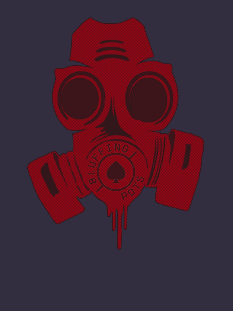 Gas mask RED halftone by bluffingpotspk
