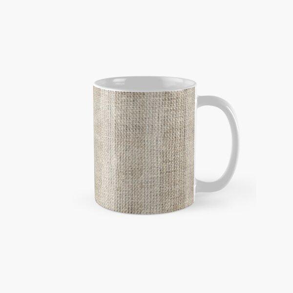 Striped burlap (Hessian series 3 of 3) Classic Mug