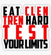Eat Clen Tren Hard (Black) Sticker