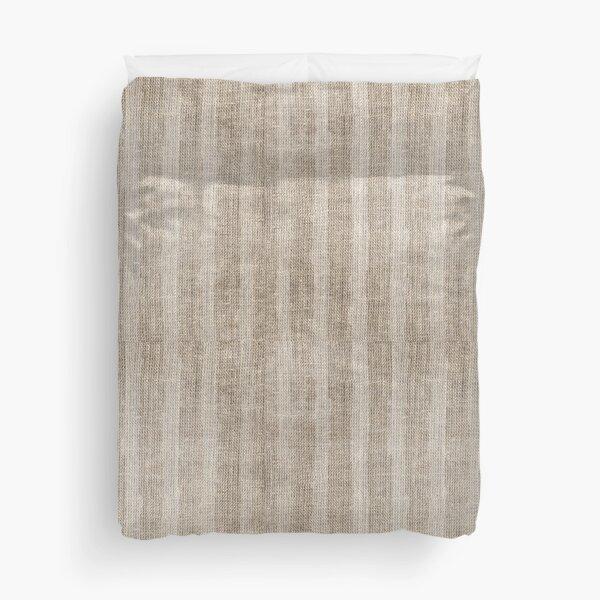 Striped burlap (Hessian series 3 of 3) Duvet Cover