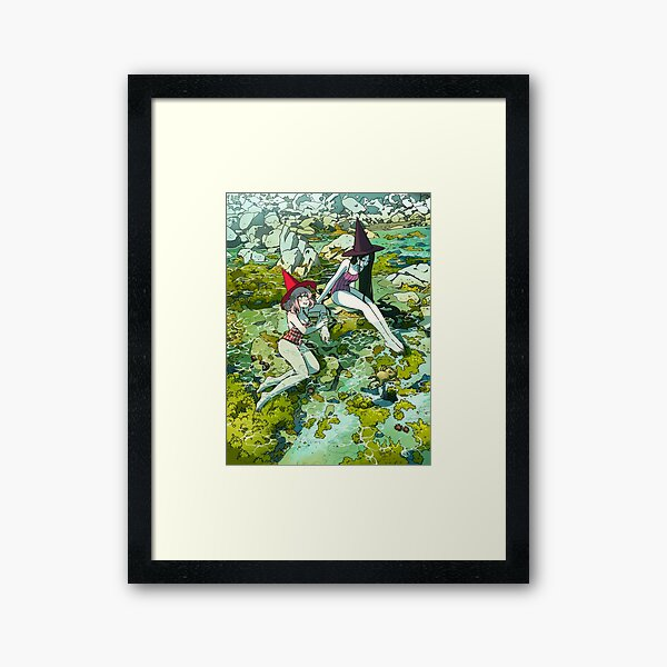 Summer witches Framed Art Print