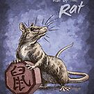 Chinese Zodiac - The Rat Card by Stephanie Smith