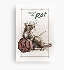 Chinese Zodiac - Year of the Rat Canvas Print