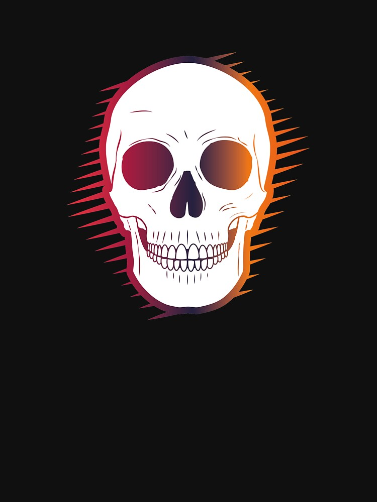 Colourful Skull by johnnyhh