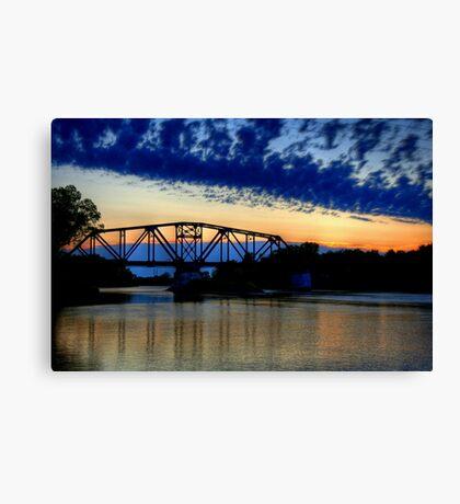 Sunset over the Taylor Bridge Canvas Print