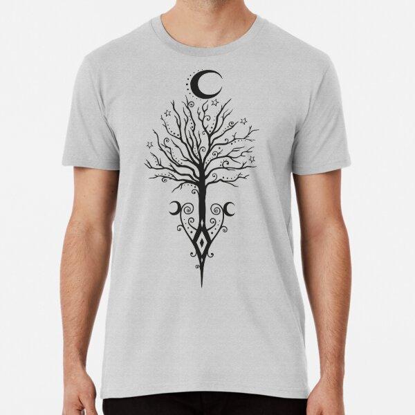Baum Mond Nacht Sterne Mondbaum Premium T-Shirt