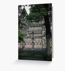 South of facade Nidaros Trondheim Norway 19840622 0012m Greeting Card