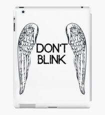 [Doctor Who] Don't Blink - Wings (Black) iPad Case/Skin