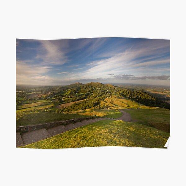 Sunset From British Camp - The Malvern Hills Poster