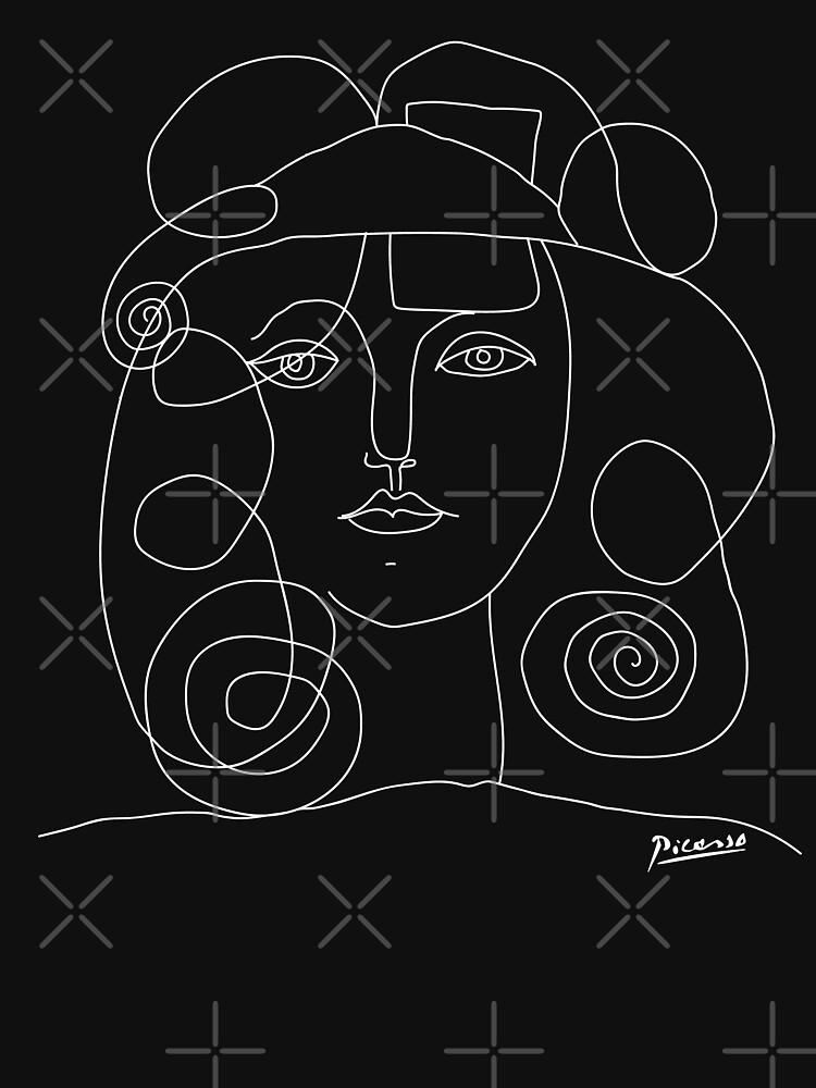 Picasso Sketch Line ''women'' Negative by no-1