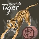 Year of the Tiger by Stephanie Smith (for dark shirts) by Stephanie Smith