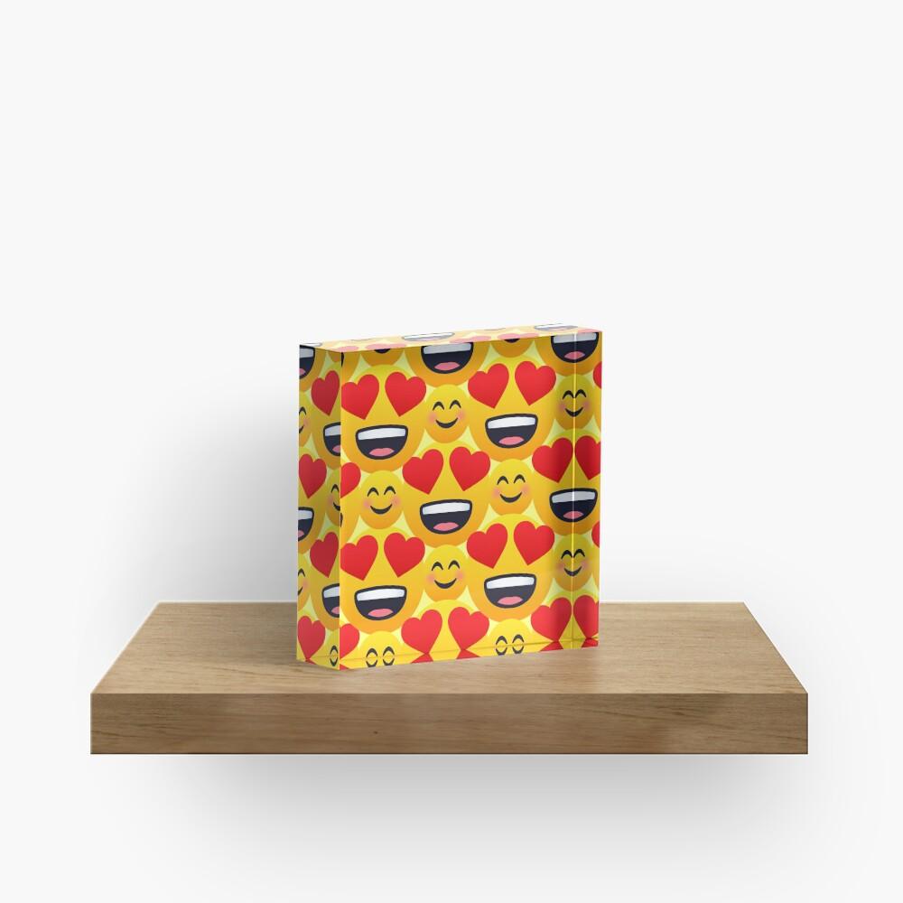 Love emojis pattern Acrylic Block