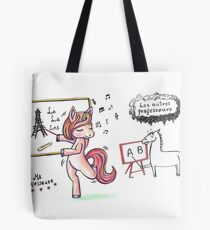French Teacher singing unicorn Tote Bag