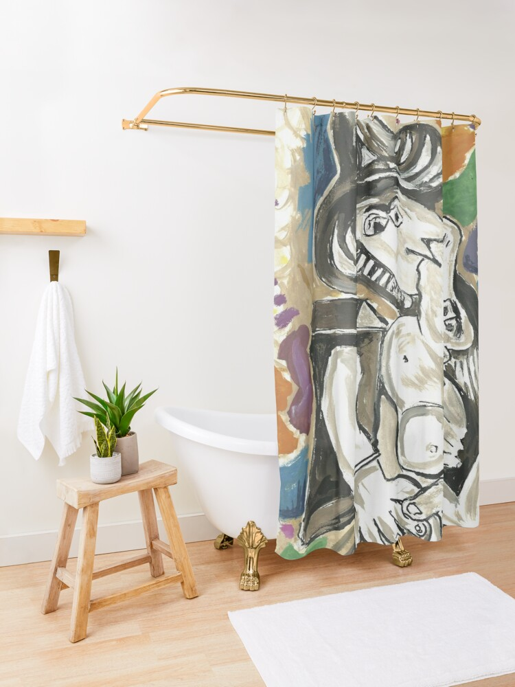 Alternate view of Pablo Picasso The Kiss 1930 Artwork for Men, Women, Kids, Posters, Canvas, Tshirts Shower Curtain