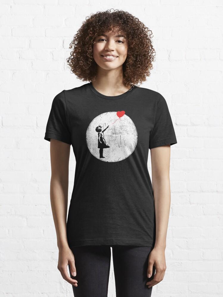 Alternate view of Ballon Girl Banksy Essential T-Shirt