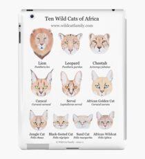 Ten Wild Cats of Africa Chart iPad Case/Skin