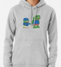 PepeTheFrog and Pepe The Helper Brother Apu Apustaja with ice cream holding hands HD HIGH QUALITY ONLINE STORE Pullover Hoodie