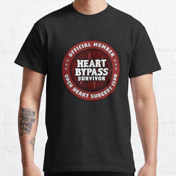 Cirugía de bypass para corazón Cirugía de corazón abierto Regalo de recuperación Camiseta clásica