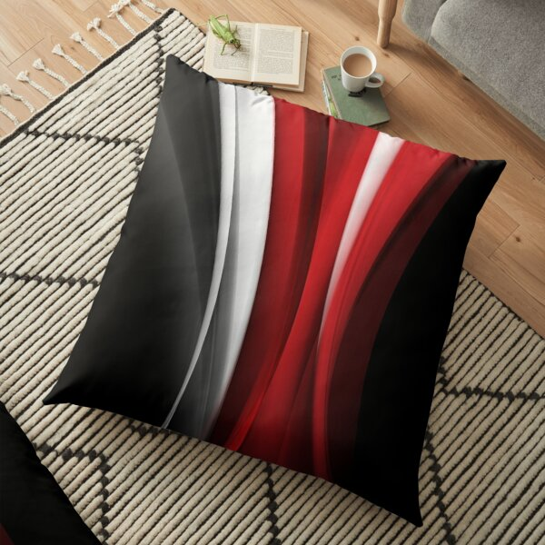 Red And White Floor Pillow